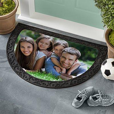 Picture Perfect Photo Half Round Doormat