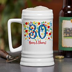 Colorful Birthday Beer Stein
