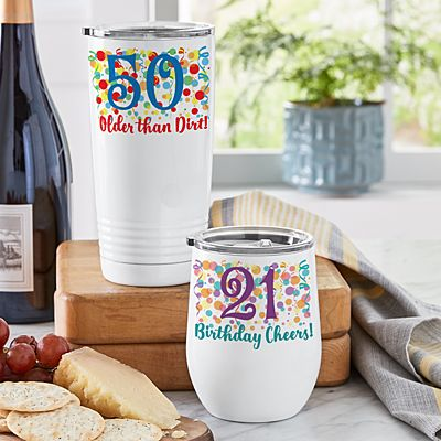 Colorful Birthday Insulated Tumblers