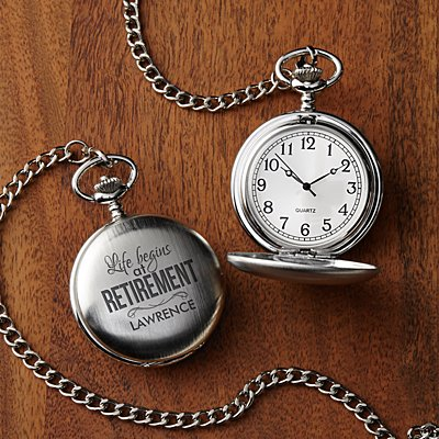 Life Begins At Retirement Pocket Watch