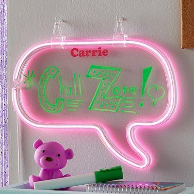 Neon Light-Up Speech Bubble