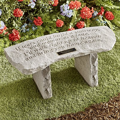If Tears...Garden Bench