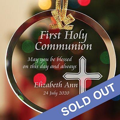 Communion/Confirmation Glass Bauble
