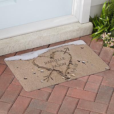Heart in Sand Doormat