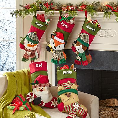 Big Face Jingle Bell Personalised Stocking