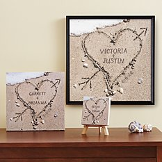 Heart in Sand Canvas