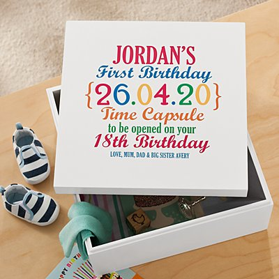 Precious Memories First Birthday Memory Box