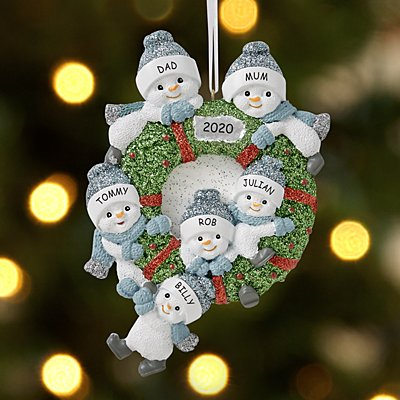 The Original Snow Buddies®  Family Wreath Bauble