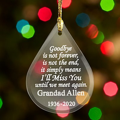 Goodbye is Not Forever Memorial Glass Bauble