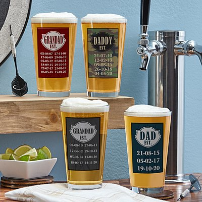 Established Pint Beer Glass