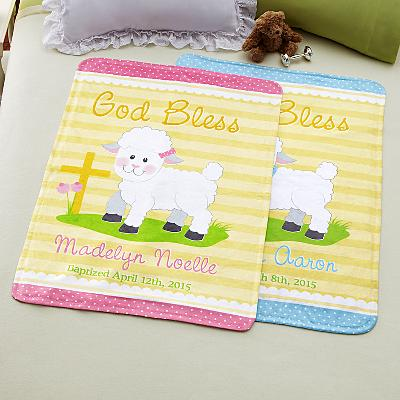 Lamb Christening Blanket