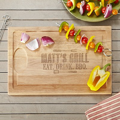 Grill Master Wooden Chopping Board