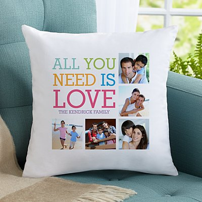 Love Photo Collage Sofa Cushion