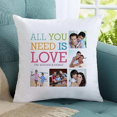 Love Photo Collage Cushion