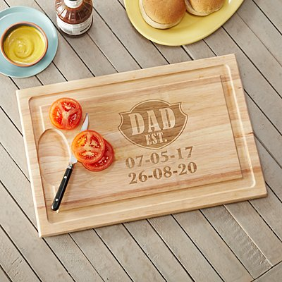 Dad Established Wooden Chopping Board