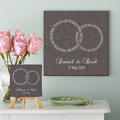 Rings of Love Canvas