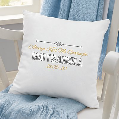 Always Kiss Me Goodnight Sofa Cushion