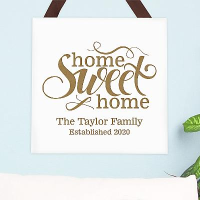 Home Sweet Home Square Wood Plaque