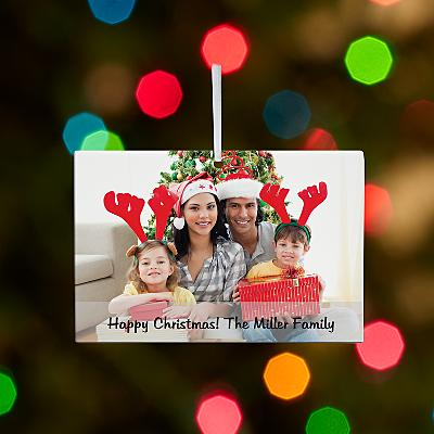 Picture Perfect Message Rectangle Bauble