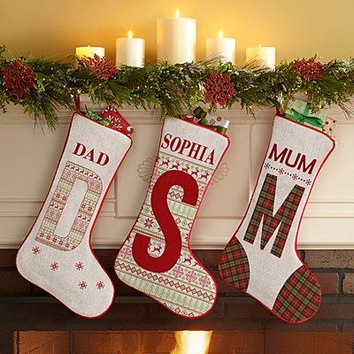 Initial Christmas Stocking