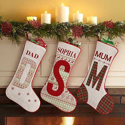 Initial Christmas Stocking