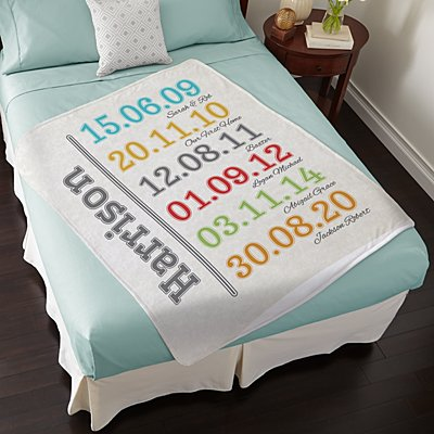 Fun Family History Plush Blanket
