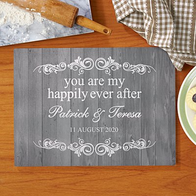 You Are My Happily Ever After Glass Chopping Board