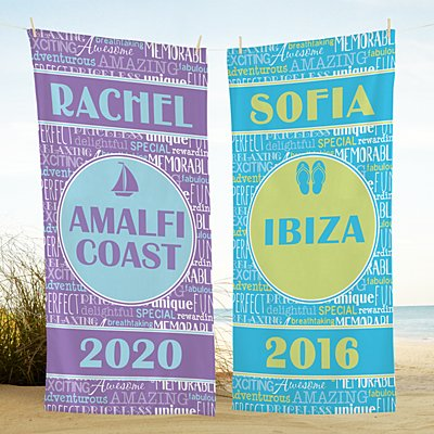 Splash of Memories Beach Towel