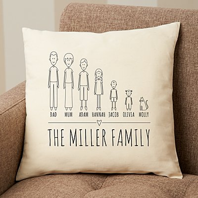 Cast of Characters Family Sofa Cushion