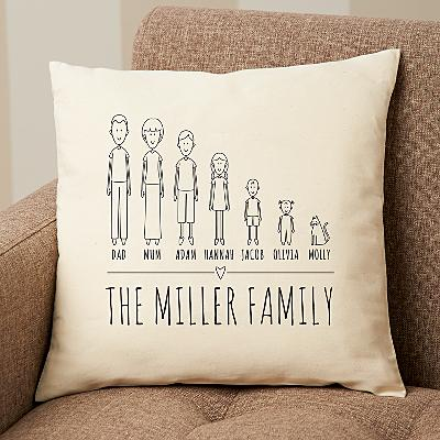 Cast of Characters Family Cushion