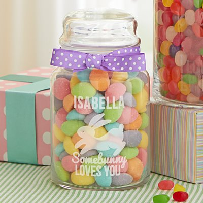 Some Bunny Love You Glass Sweets Jar