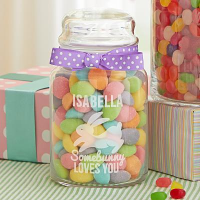 Some Bunny Love You Glass Treat Jar