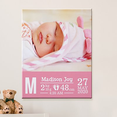 Welcome Little One Photo Canvas