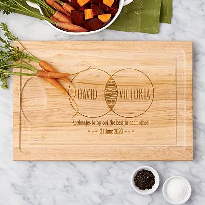 Soulmates Wooden Cutting Board