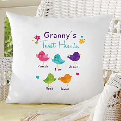 Her Tweet-Hearts Sofa Cushion
