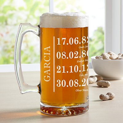 Fun Family History Oversized Pint Glass