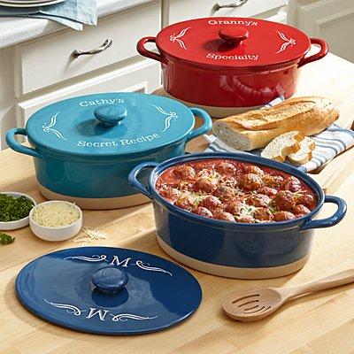3.3 qt Oval Ceramic Stoneware Casserole Dish