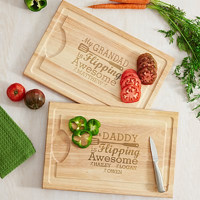 Flipping Awesome BBQ Wooden Chopping Board