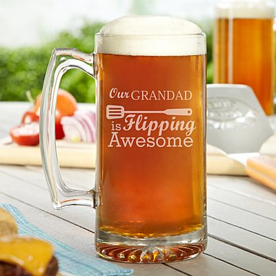 Flipping Awesome Oversized Pint Glass
