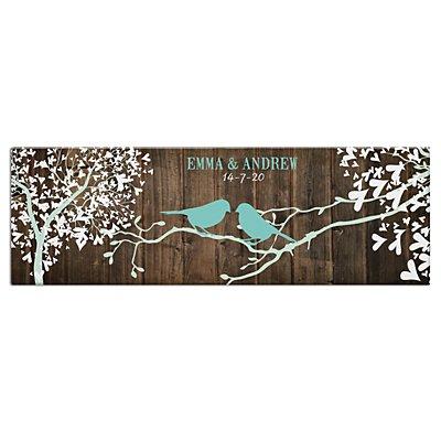 Sweet Lovebirds Canvas-Unframed-45x15 cm