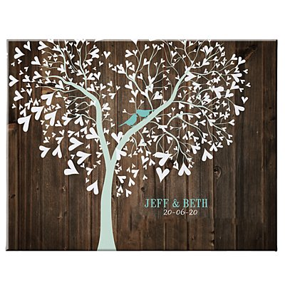 Sweet Lovebirds Canvas-Unframed- 35x27 cm