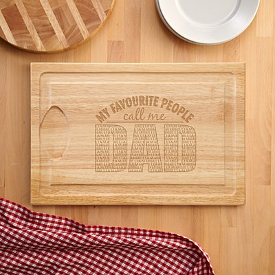 My Favourite People Wooden Chopping Board
