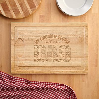 My Favourite People Wooden Cutting Board