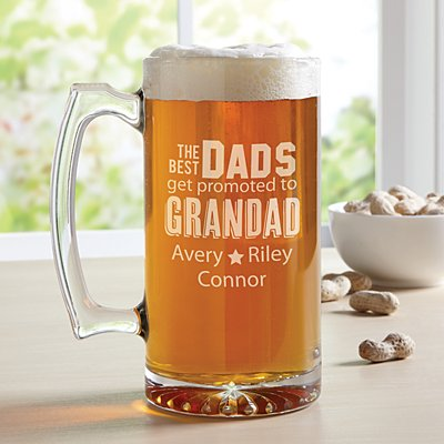 The Best Dads Get Promoted Oversized Pint Glass