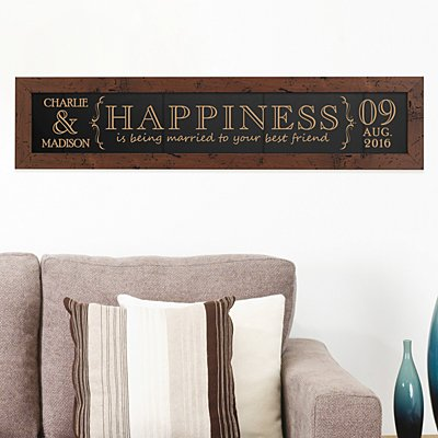 Married to Your Best Friend Framed Wood Sign