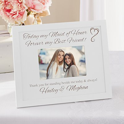 Bridal Party Wood Frame - White