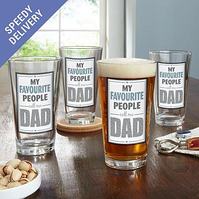 My Favourite People Pub Glass