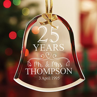 Anniversary  Bell Glass Bauble
