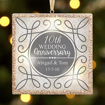 TwinkleBright® LED Anniversary Bauble