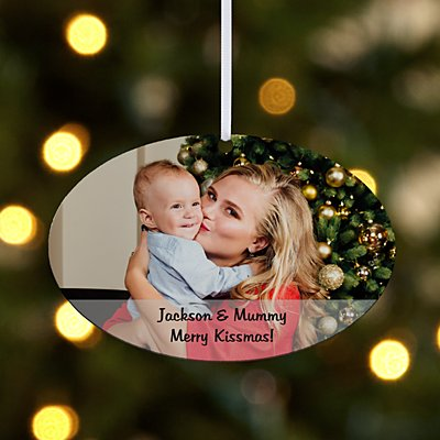 Picture Perfect Photo Message Oval Bauble